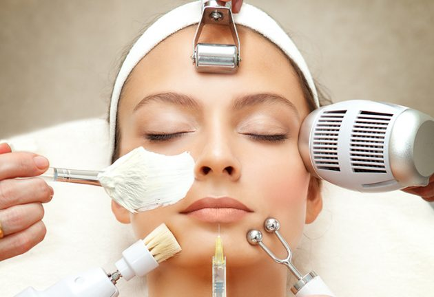 Spa Salon: Young Beautiful Woman Having Different Facial Treatment. Please, view my other pictures of this series below: